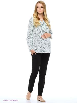Блузка для беременных FEST. Цвет: зеленый, серый