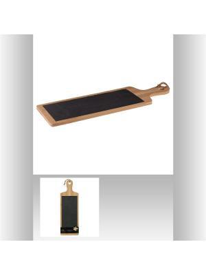 Разделочная доска (бамбук, сланец) JJA. Цвет: светло-коричневый