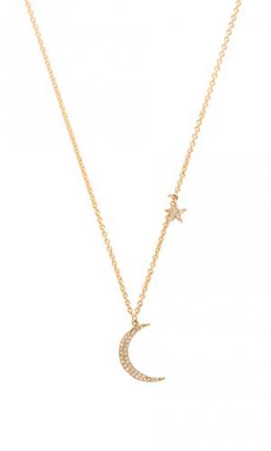 Ожерелье moon and star Sachi. Цвет: металлический золотой