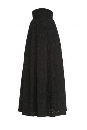 Юбка из хлопка с шелком 162637 Izeta. Цвет: черный