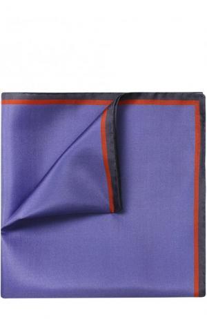 Шелковый платок с контрастным кантом Lanvin. Цвет: фиолетовый