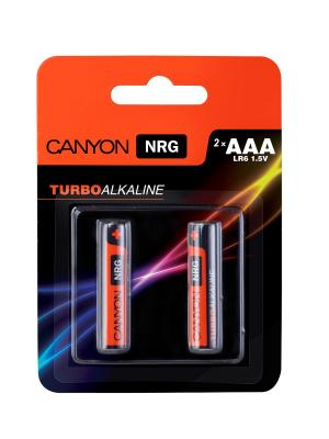 Батарейки, Canyon NRG alkaline battery AAA, 2pcs/pack.. Цвет: черный