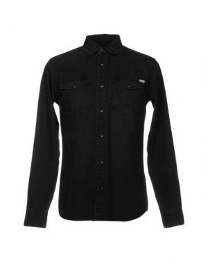 Джинсовая рубашка JACK & JONES. Цвет: черный