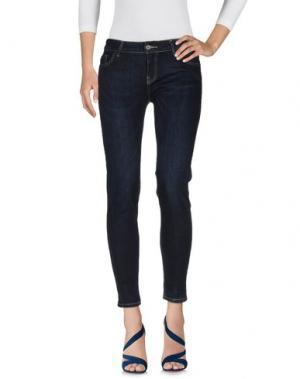 Джинсовые брюки LA FEE MARABOUTEE. Цвет: синий