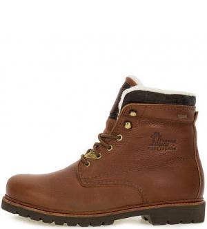 Высокие кожаные ботинки на шнуровке Panama Jack. Цвет: коричневый