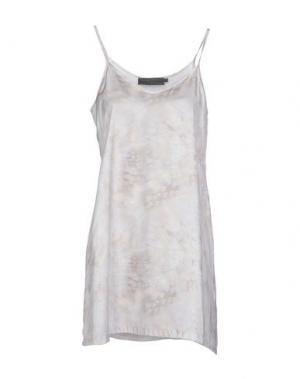 Короткое платье MARIA CALDERARA. Цвет: светло-серый