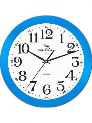 Часы настенные Михаилъ Москвинъ. Цвет: голубой