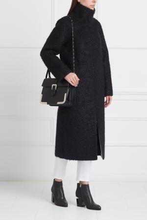 Однотонное пальто VIKTORIA IRBAIEVA. Цвет: черный