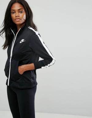 Nike Спортивная куртка. Цвет: черный