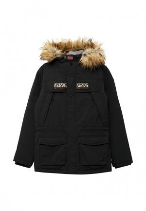 Куртка утепленная Napapijri. Цвет: черный