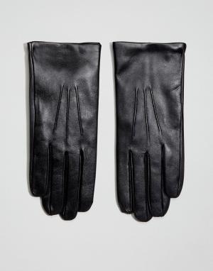 Dents Кожаные перчатки с кашемировой подкладкой Bath. Цвет: черный