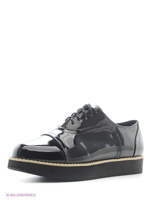 Ботинки Oodji. Цвет: черный