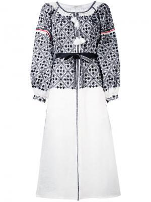 Платье-рубашка с вышивкой Vita Kin. Цвет: белый