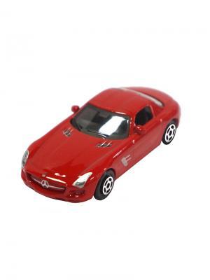 Машинка Mercedes-Benz SLS AMG, Красная (1:64) (PS-0616604-R) Pit Stop. Цвет: красный