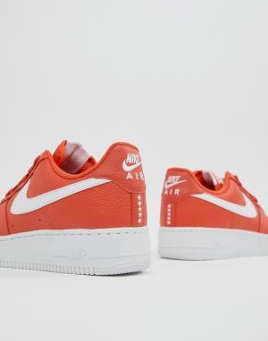 Nike Оранжевые Air Force 1 07 AA4083-800. Цвет: оранжевый