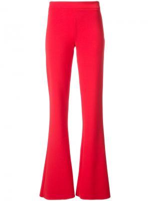 Расклешенные брюки Donna Jeffrey Dodd. Цвет: красный