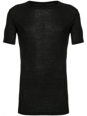 Sheer short sleeved T-shirt Thom Krom. Цвет: чёрный