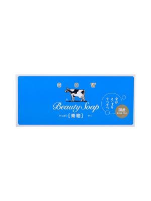 Молочное туалетное мыло с ароматом свежести 6 х 85 г COW. Цвет: прозрачный