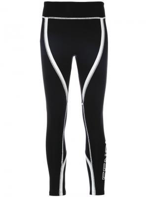 Спортивные брюки с полосками и логотипом Fendi. Цвет: чёрный