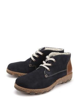 Ботинки Rieker. Цвет: синий