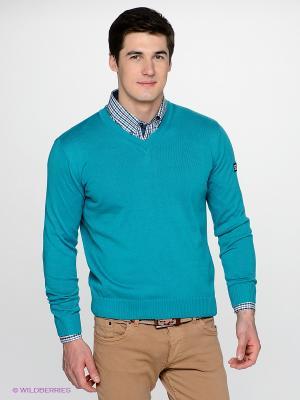 Пуловер Navigare. Цвет: бирюзовый