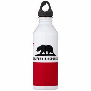 Бутылка Для Воды MIZU. Цвет: glossy white california flag
