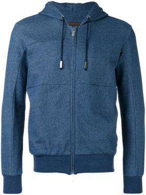 Zipped hoodie Eleventy. Цвет: синий