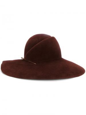 Шляпа-федора Eugenia Kim. Цвет: красный