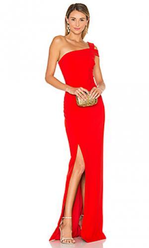 Вечернее платье maxson LIKELY. Цвет: красный