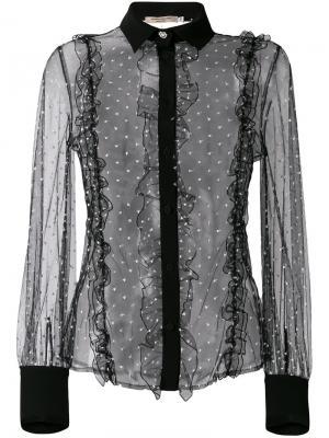 Блузка с кружевной отделкой Piccione.Piccione. Цвет: чёрный