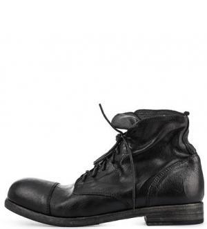 Черные ботинки из натуральной кожи O.X.S.. Цвет: черный