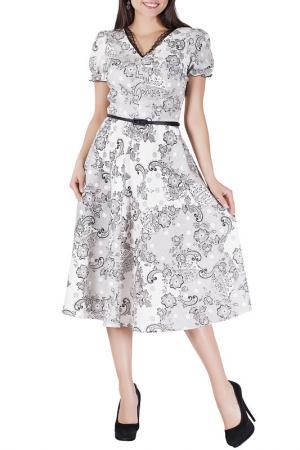 Платье Mannon. Цвет: черно-молочный