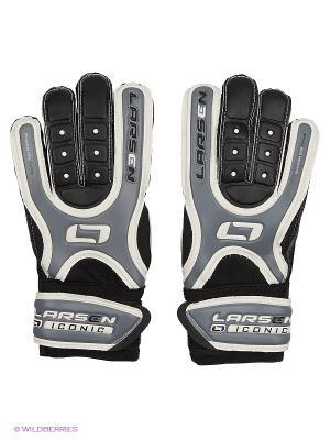 Перчатки вратарские Iconic Larsen. Цвет: черный, серый, белый