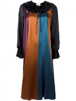 Платье-шифт дизайна колор-блок Roksanda. Цвет: многоцветный