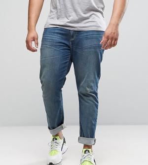 ASOS Синие выбеленные джинсы скинни PLUS. Цвет: синий