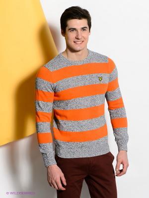 Джемпер Lyle&Scott. Цвет: оранжевый, синий