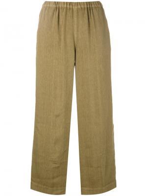 Укороченные брюки Portia Ql2. Цвет: зелёный