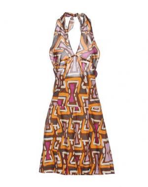 Короткое платье RA-RE. Цвет: коричневый