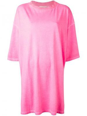 Футболка свободного кроя Amen. Цвет: розовый и фиолетовый