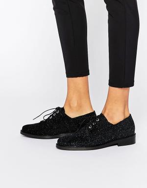 Miista Туфли на плоской подошве и шнуровке Adelaide. Цвет: синий