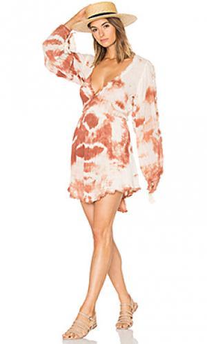 Платье belleze Jens Pirate Booty Jen's. Цвет: оранжевый