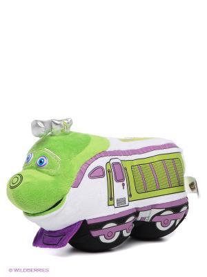 Мягкая игрушка Паровозик Коко Мульти-пульти. Цвет: зеленый, сиреневый, белый