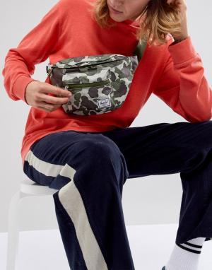 Herschel Supply Co Сумка-кошелек на пояс камуфляжной расцветки Sevente. Цвет: зеленый