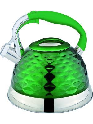 Чайник со свистком 2,7 литра. RAINSTAHL. Цвет: зеленый