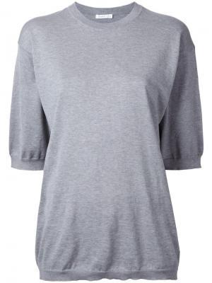Свободная футболка 6397. Цвет: серый