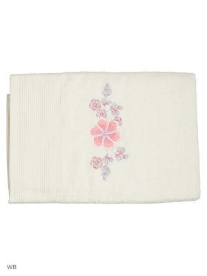 Полотенце махровое с вышивкой DH Лунный цветок 70*140. Dorothy's Нome. Цвет: белый