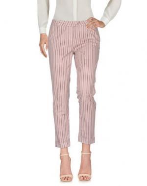 Повседневные брюки TELERIA ZED. Цвет: светло-розовый