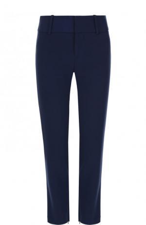 Укороченные однотонные брюки Alice + Olivia. Цвет: синий