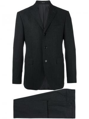 Классический костюм Tagliatore. Цвет: серый