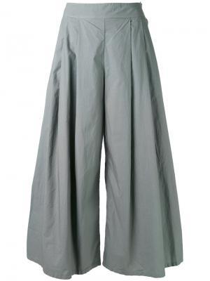Широкие брюки со складками Labo Art. Цвет: серый